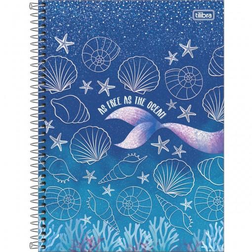 Caderno Espiral Capa Dura Universitário 10 Matérias Wonder 160 Folhas - As Free as the Ocean - Sortido