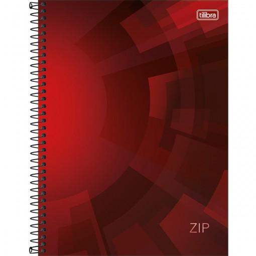 Caderno Espiral Capa Dura Universitário 10 Matérias Zip 200 Folhas (Pacote com 4 unidades) - Sortido
