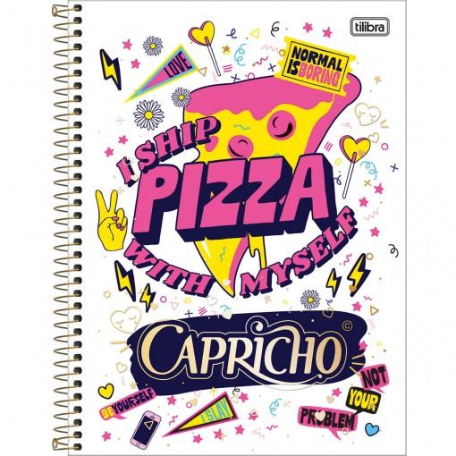 Caderno Espiral Capa Dura Universitário 12 Matérias Capricho 240 Folhas (Pacote com 4 unidades) - Sortido