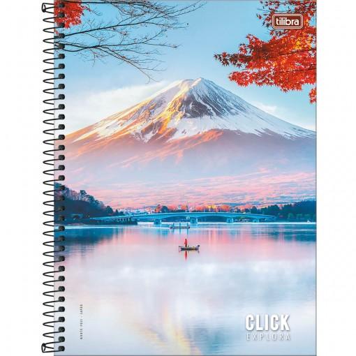 Caderno Espiral Capa Dura Universitário 12 Matérias Click Explora 192 Folhas (Pacote com 4 unidades) - Sortido