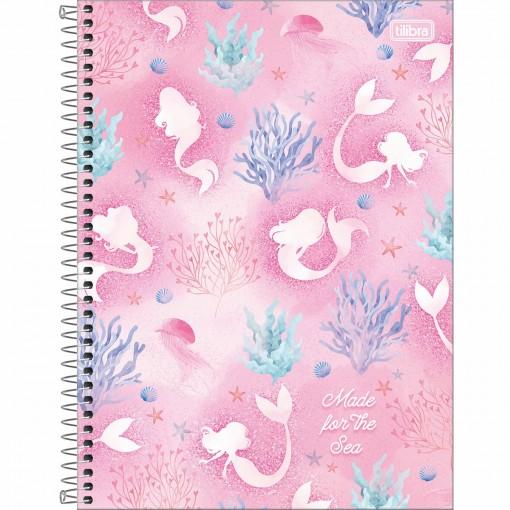 Caderno Espiral Capa Dura Universitário 12 Matérias Wonder 192 Folhas (Pacote com 4 unidades) - Sortido