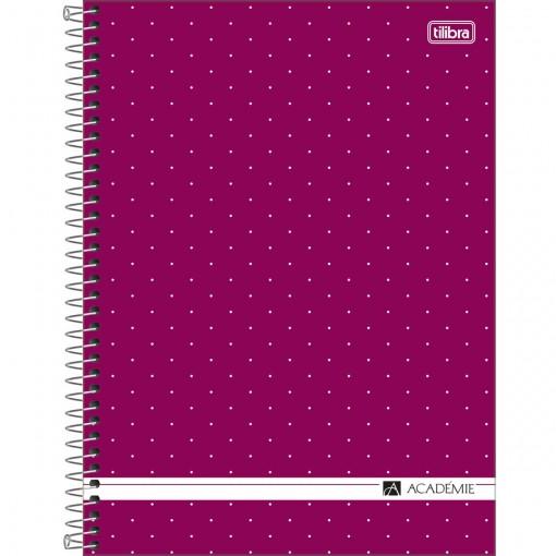 Caderno Espiral Capa Dura Universitário 16 Matérias Académie Feminino 256 Folhas - Sortido