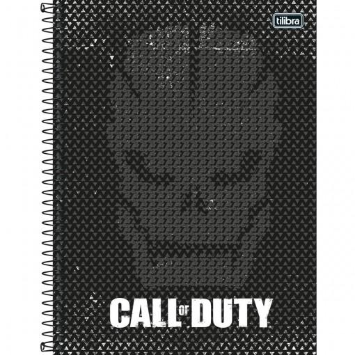 Caderno Espiral Capa Dura Universitário 16 Matérias Call of Duty 256 Folhas - Sortido