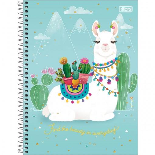 Caderno Espiral Capa Dura Universitário 16 Matérias Hello! 256 Folhas - Sortido