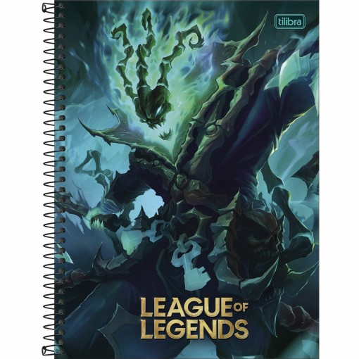 Caderno Espiral Capa Dura Universitário 16 Matérias League of Legends 256 Folhas - Sortido