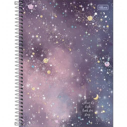 Caderno Espiral Capa Dura Universitário 16 Matérias Magic 256 Folhas - Sortido
