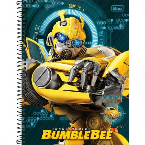 Caderno Espiral Capa Dura Universitário 16 Matérias Transformers 256 Folhas - Sortido