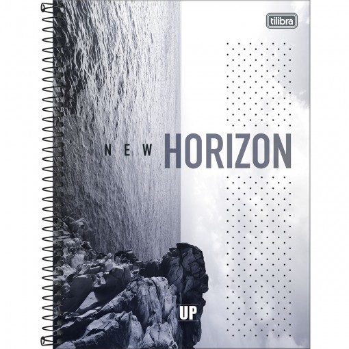 Caderno Espiral Capa Dura Universitário 16 Matérias UP 256 Folhas - Sortido
