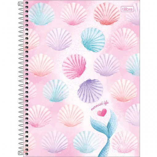 Caderno Espiral Capa Dura Universitário 16 Matérias Wonder 256 Folhas - Sortido