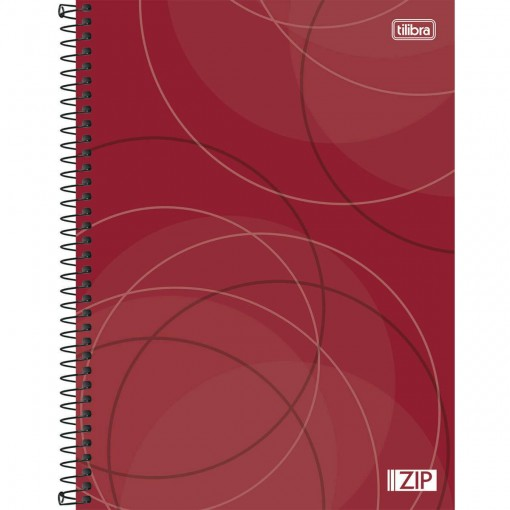 Caderno Espiral Capa Dura Universitário 16 Matérias Zip 320 Folhas - Sortido