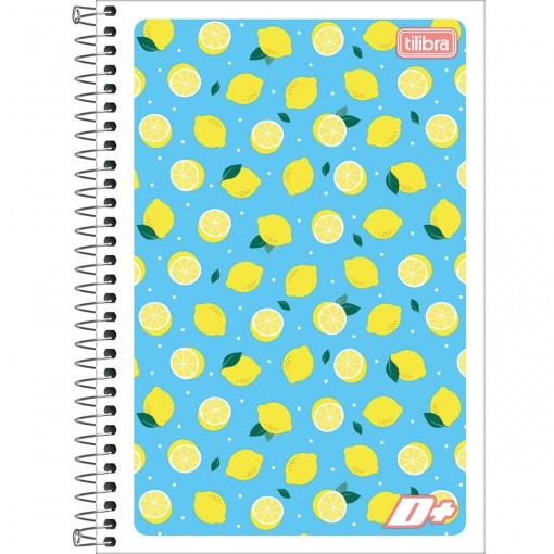 Caderno Espiral Capa Flexível 1/4 D+ 96 Folhas (Pacote com 10 unidades) - Sortido