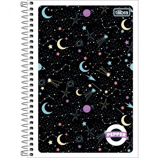 Caderno Espiral Capa Flexível 1/4 Pepper 80 Folhas (Pacote com 6 unidades) - Sortido