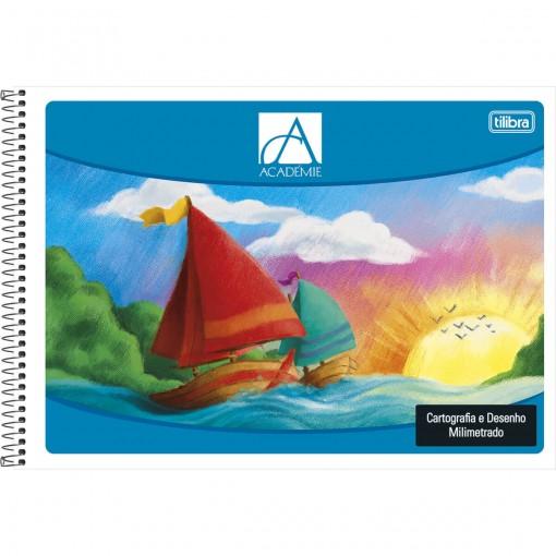 Caderno Espiral Capa Flexível Cartografia e Desenho Milimetrado Académie 48 Folhas