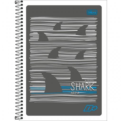 Caderno Espiral Capa Flexível Universitário 10 Matérias D+ 200 Folhas (Pacote com 5 unidades) - Sortido