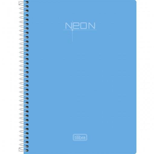 Caderno Espiral Capa Plástica 1/4 Neon 96 Folhas (Pacote com 5 unidades) - Sortido