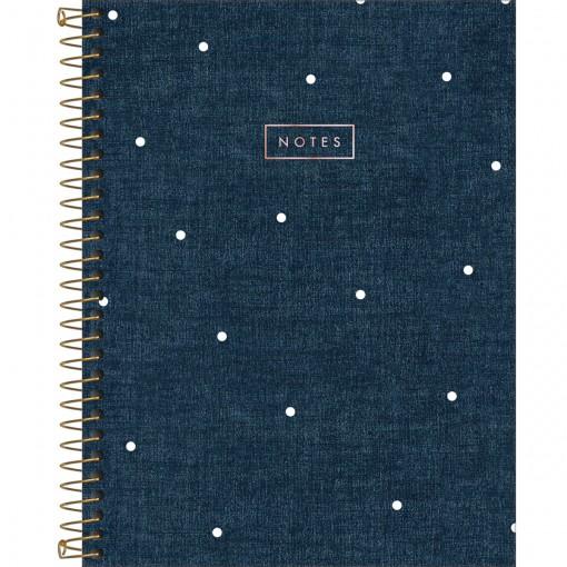 Caderno Executivo Espiral Capa Dura Colegial Cambridge Denim 80 Folhas (Pacote com 4 unidades) - Sortido