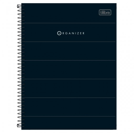 Caderno Executivo Espiral Capa Dura Organizer 80 Folhas
