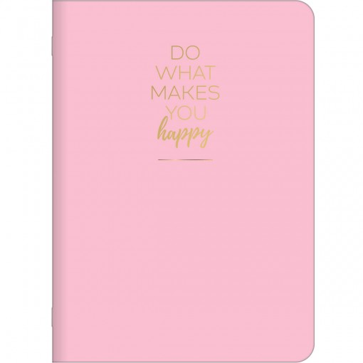 Caderno Grampeado Flexível Happy 32 Folhas (Pacote com 5 unidades) - Sortido