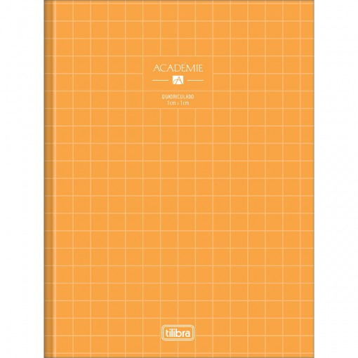 Caderno Quadriculado 1x1 cm  Brochura Capa Dura Académie Feminino 40 Folhas (Pacote com 10 unidades) - Sortido