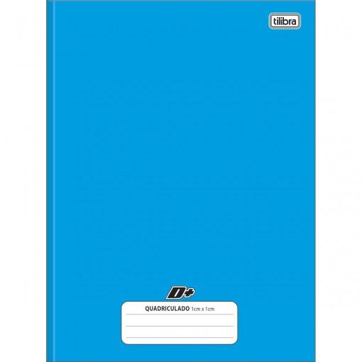 Caderno Quadriculado 1x1 cm Brochura Capa Dura Universitário D+ Azul 96 Folhas