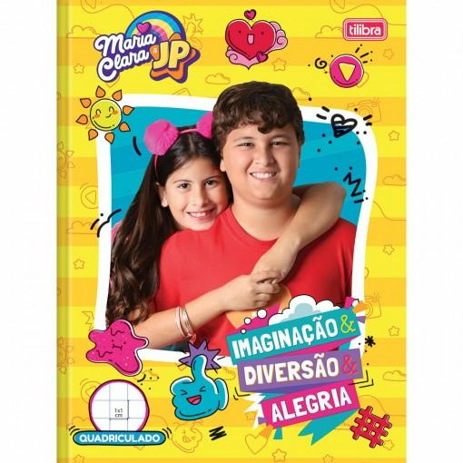 Caderno Quadriculado 1x1cm Brochura Capa Dura Maria Clara e JP 40 Folhas (Pacote com 5 unidades) - Sortido