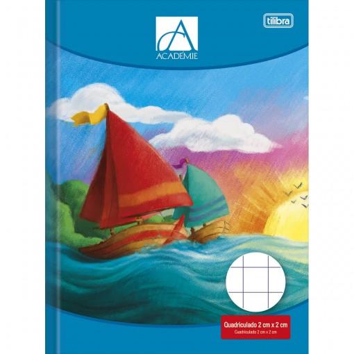 Caderno Quadriculado 2x2 cm Brochura Capa Dura Académie 40 Folhas
