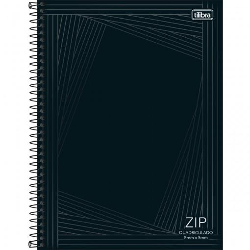 Caderno Quadriculado 5x5 mm Espiral Capa Dura Universitário Zip 80 Folhas (Pacote com 4 unidades) - Sortido