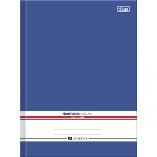Caderno Quadriculado 7x7 mm Brochura Capa Dura 1/4 Académie Azul 96 Folhas