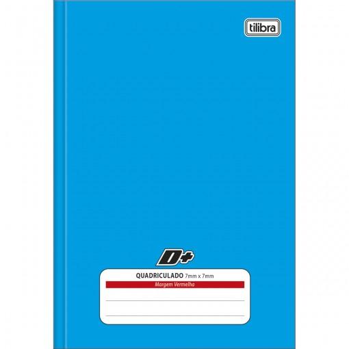 Caderno Quadriculado 7x7 mm Brochura Capa Dura 1/4 D+ Azul 96 Folhas