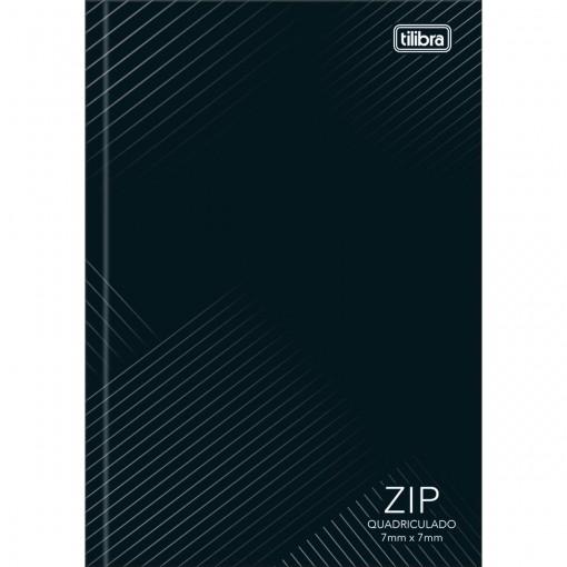 Caderno Quadriculado 7x7 mm Brochura Capa Dura 1/4 Zip 96 Folhas (Pacote com 10 unidades) - Sortido