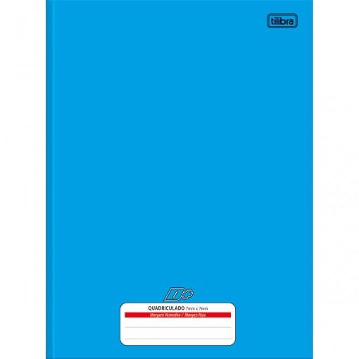 Caderno Quadriculado 7x7 mm Brochura Capa Dura D+ Azul 96 Folhas