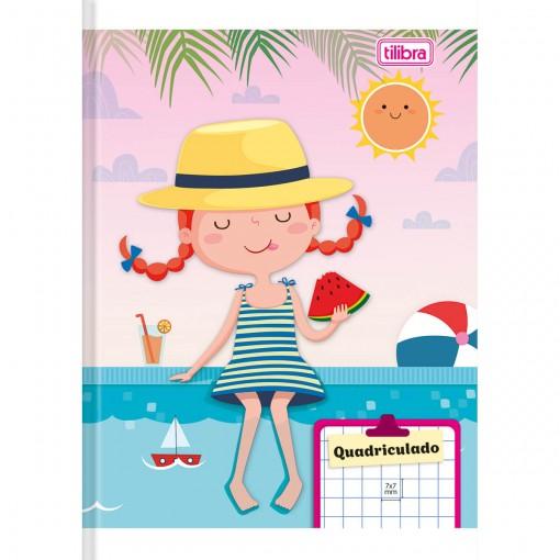 Caderno Quadriculado 7x7 mm Brochura Capa Flexível 1/4 Sapeca 96 Folhas (Pacote com 10 unidades) - Sortido
