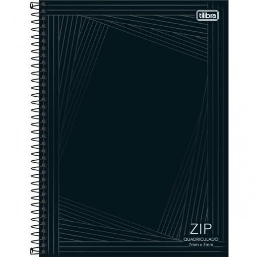 Caderno Quadriculado 7x7 mm Espiral Capa Dura Universitário Zip 96 Folhas (Pacote com 4 unidades) - Sortido