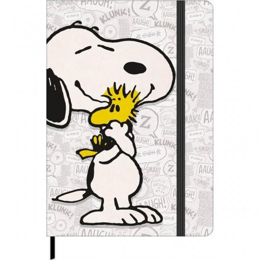 Caderno sem Pauta Costurado Capa Dura Fitto M Snoopy Vintage 80 Folhas