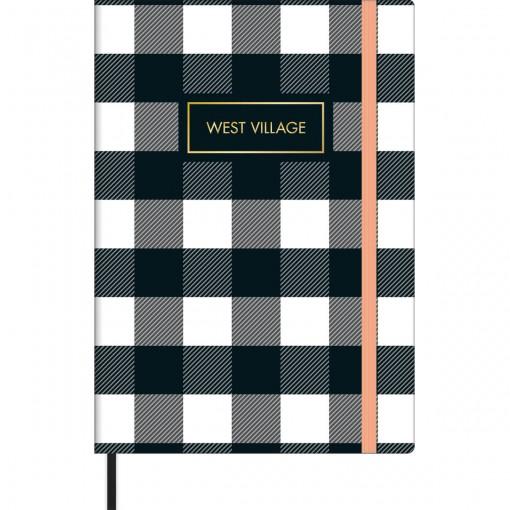 Caderno sem Pauta Costurado Capa Dura Fitto M West Village 80 Folhas - Sortido