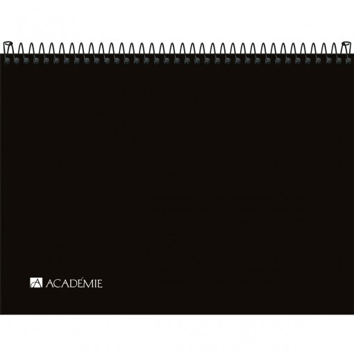 Caderno Sketchbook Espiral Capa Plástica A4 Académie 50 Folhas