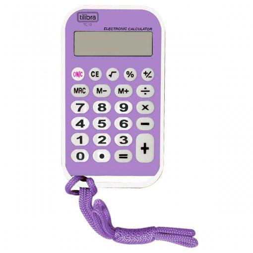 Calculadora de Bolso 8 Dígitos Média TC12 Roxa