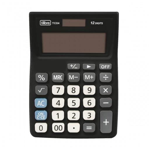 Calculadora de Bolso 12 Dígitos Grande TC04 Preta