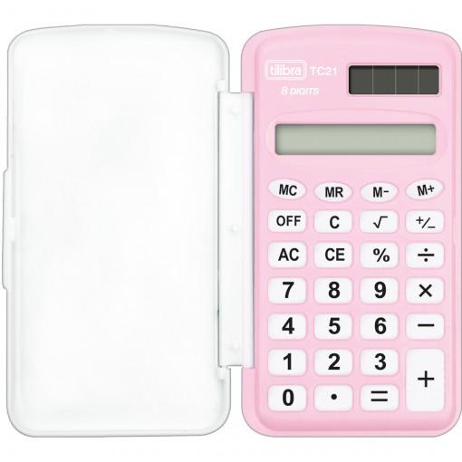 Calculadora de Bolso 8 Dígitos Pequena TC21 Rosa