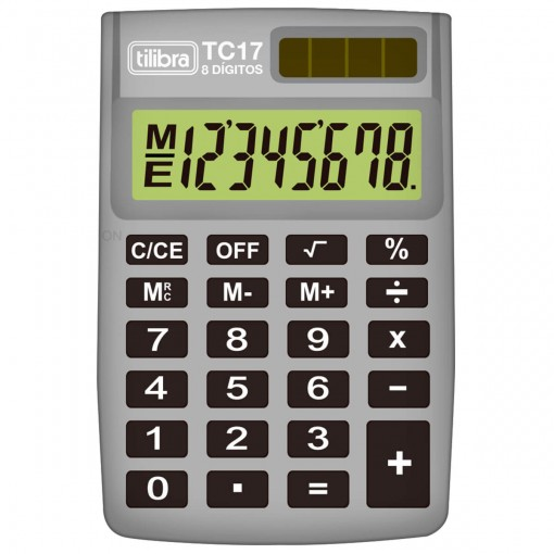 Calculadora de Bolso 8 Dígitos TC17 Cinza