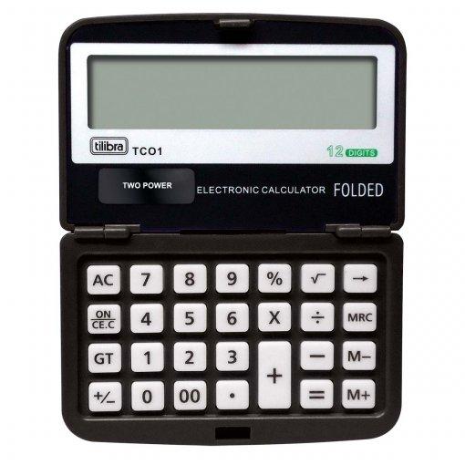 Calculadora de Bolso 12 Dígitos Pequena TC01 Preta