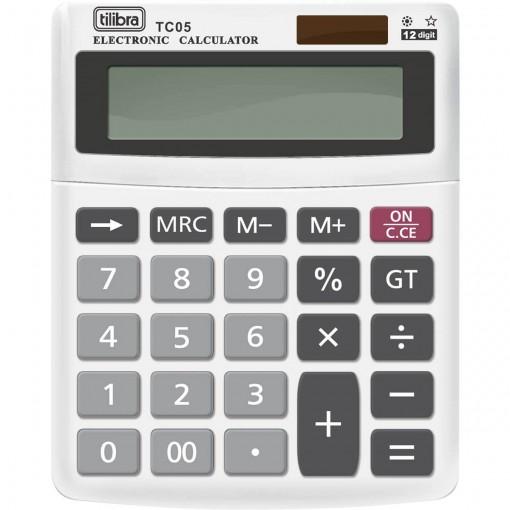 Calculadora de Mesa 12 Dígitos Pequena TC05 Branca