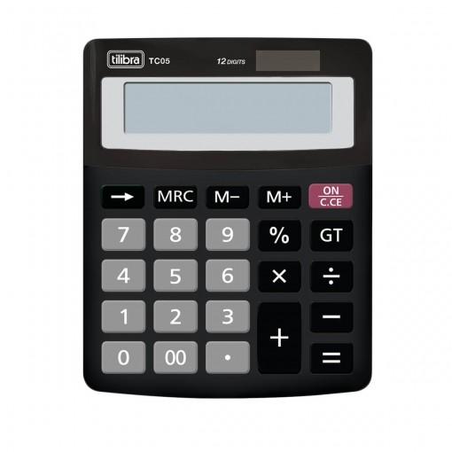 Calculadora de Mesa 12 Dígitos Pequena TC05 Preta