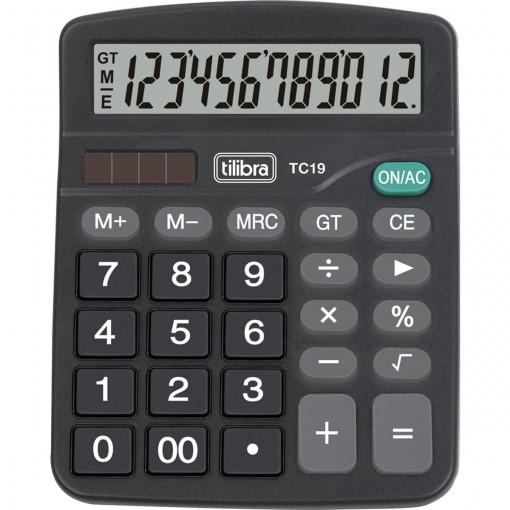 Calculadora de Mesa 12 Dígitos TC19 Preta