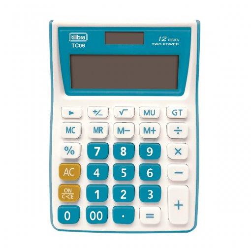 Calculadora de Mesa 12 Dígitos Média TC06 Azul