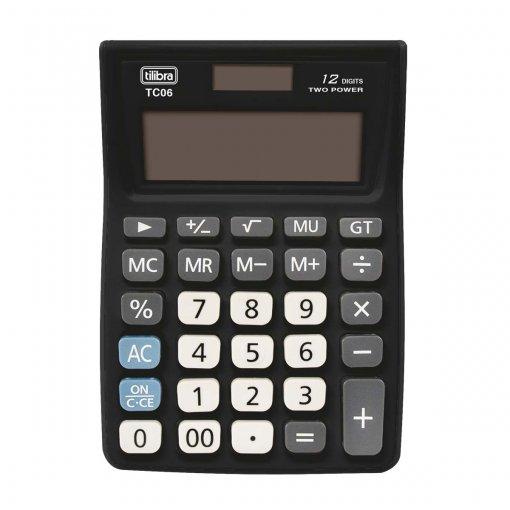 Calculadora de Mesa 12 Dígitos Média TC06 Preta