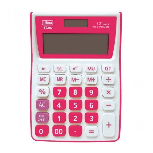 Calculadora de Mesa 12 Dígitos Média TC06 Cereja