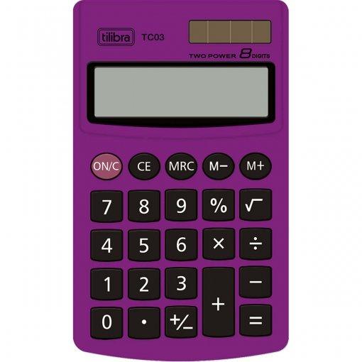 Calculadora de Bolso 8 Dígitos Grande TC03 Roxa