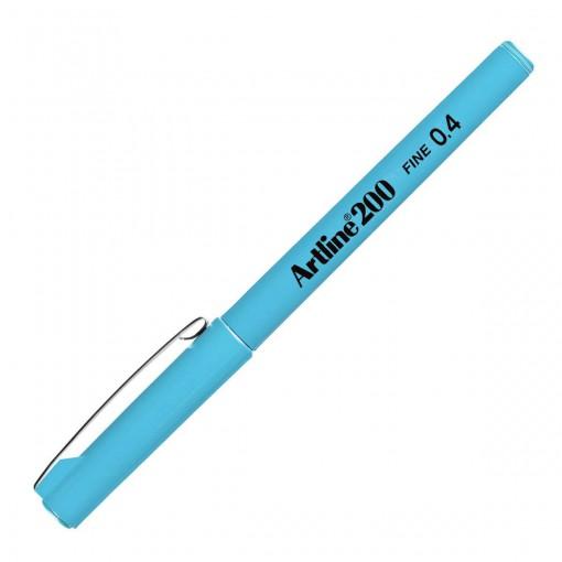 Caneta Hidrográfica 0.4mm EK-200 Artline Azul Claro