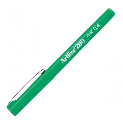 Caneta Hidrográfica 0.4mm EK-200 Artline Verde